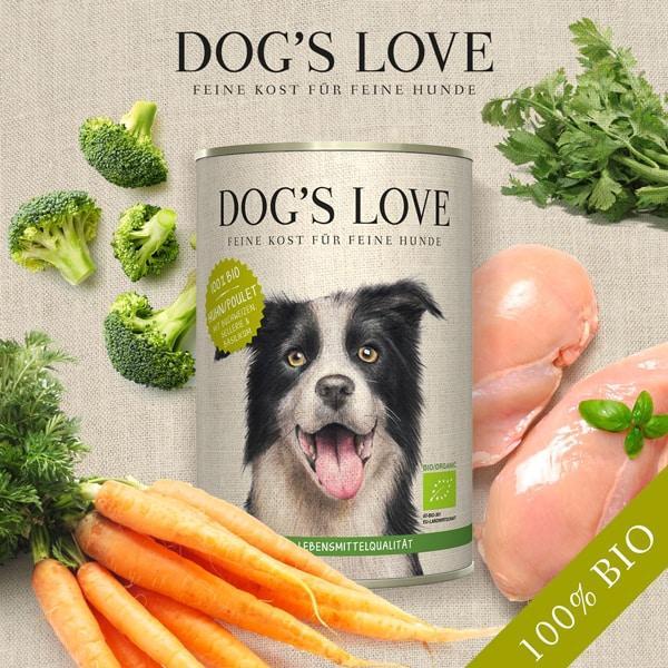 hundefutter bio dog s love huhn