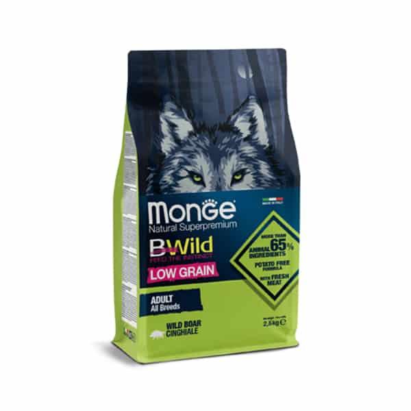 hundefutter bwild monge low grain