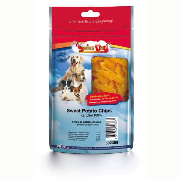 hundesnacks SwissDog Sweet Potato Chips 100g 502386 1