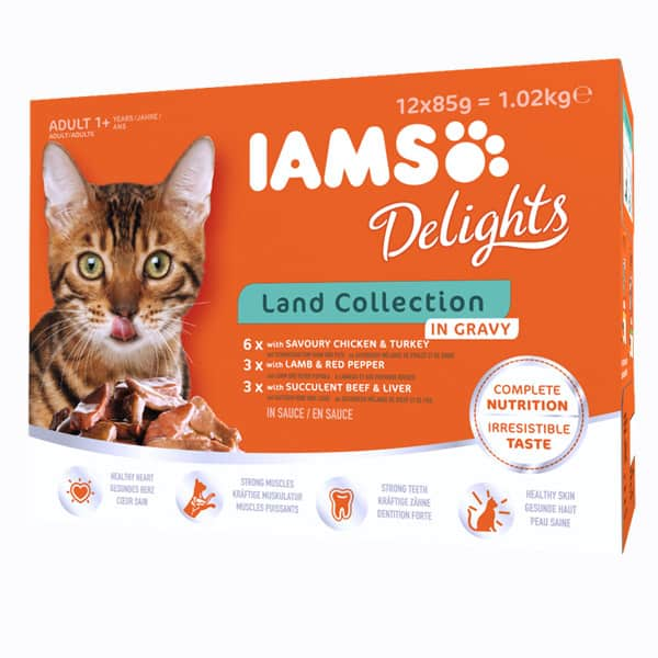 iams delights nassfutter land mix