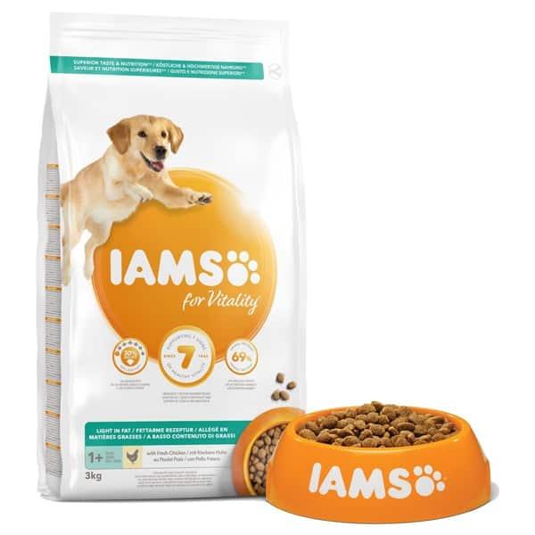 iams for vitality light hundefutter