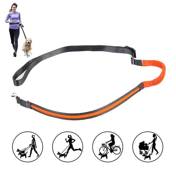 jogging hundeleine spira orange