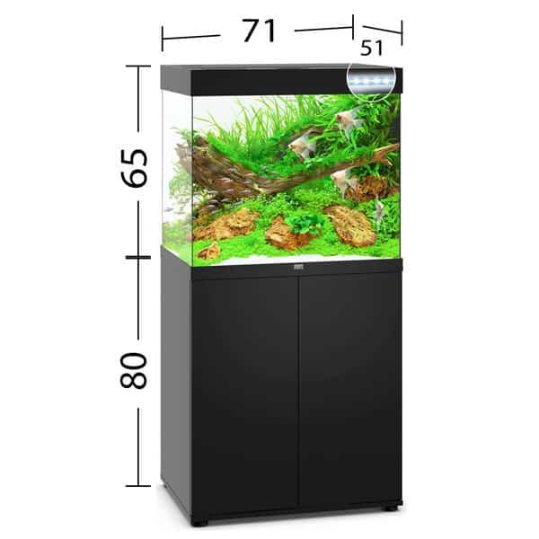 juwel lido 200 led aquarium schwarz unterschrank