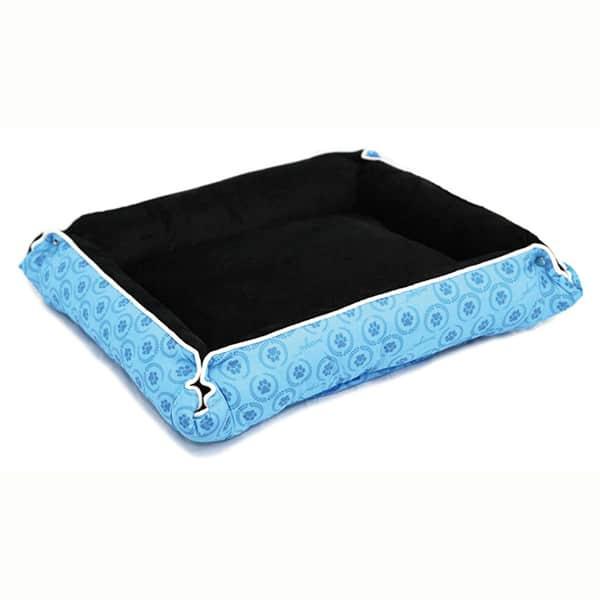 katzenbett kissen blau katzenliege pawi