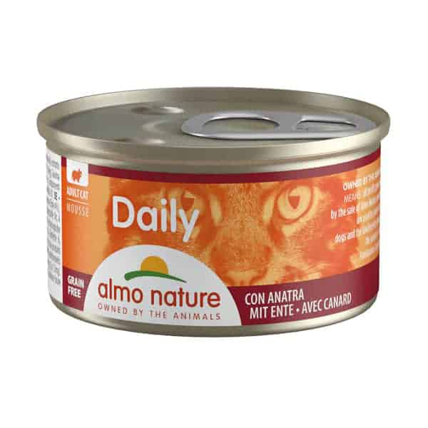 katzenfutter almo nature daily mousse ente