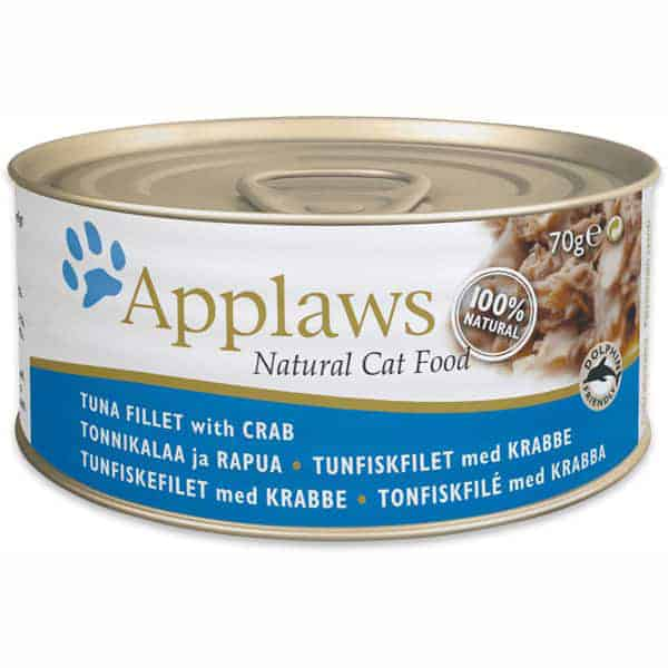 katzenfutter applaws tuna fillet crab
