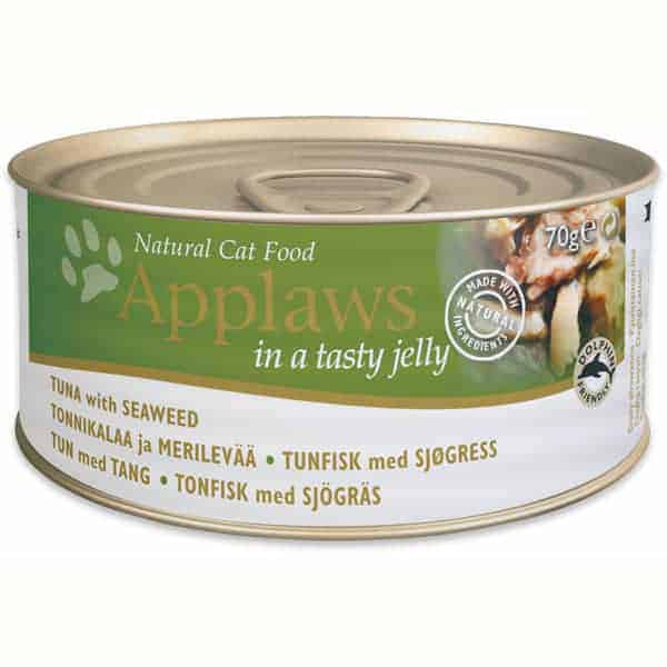 katzenfutter applaws tuna seaweed gelee