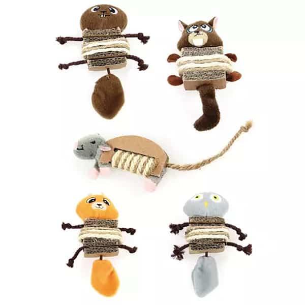 katzenspielzeuge aus sisal und karton