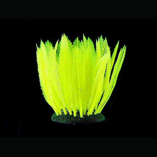 kunstpflanze leuchtend gruen aquarium