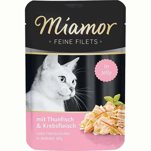 miamor feine filets katzenfutter in jelly
