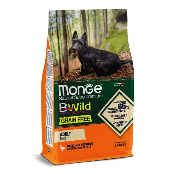 monge hundefutter bwild grain free mini