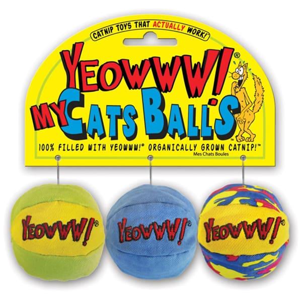 mycatsballs yeowww katzenminze stoffbaelle 3 stueck