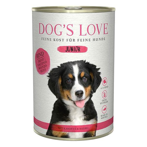 nassfutter dogs love welpenfutter rind