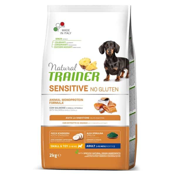 natural trainer sensitive no gluten kleine hunde futter
