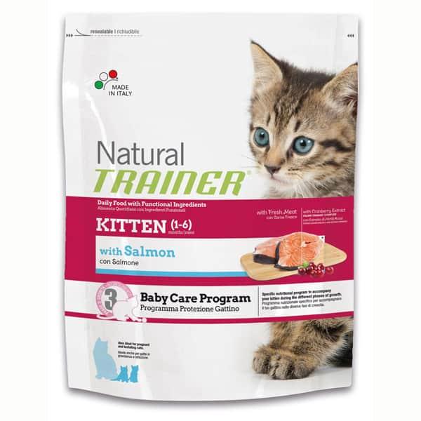 natural trainer trockenfutter kitten lachs
