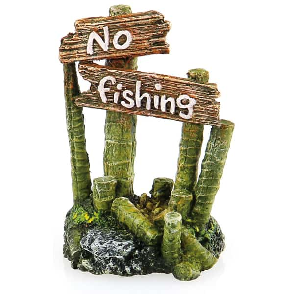 no fishing deko auf staemmen deko