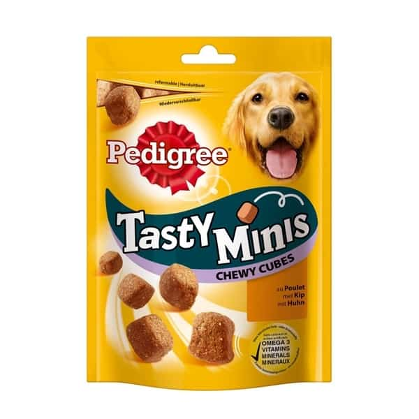 pedigree tasty minis chewy cubes chicken 588014