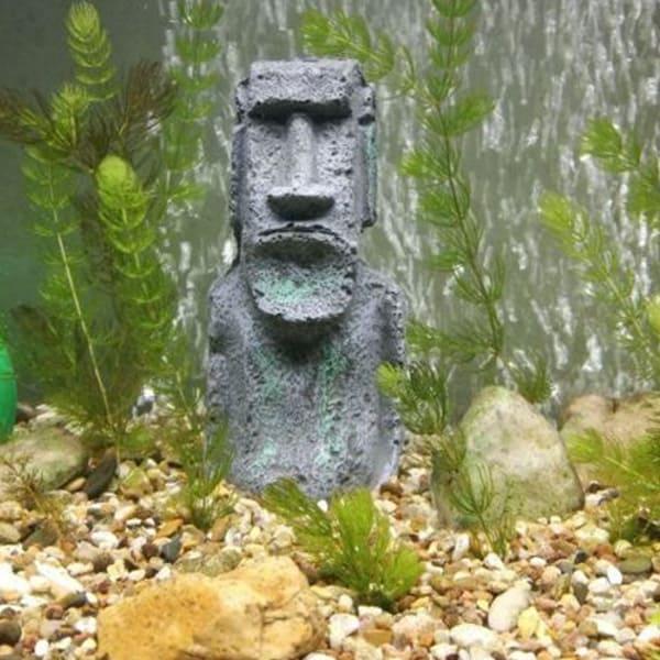 statue aquarium deko moai