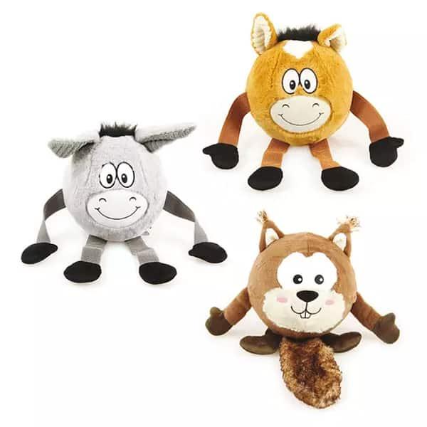 teddybaer ball mit gesicht und quietscher 1