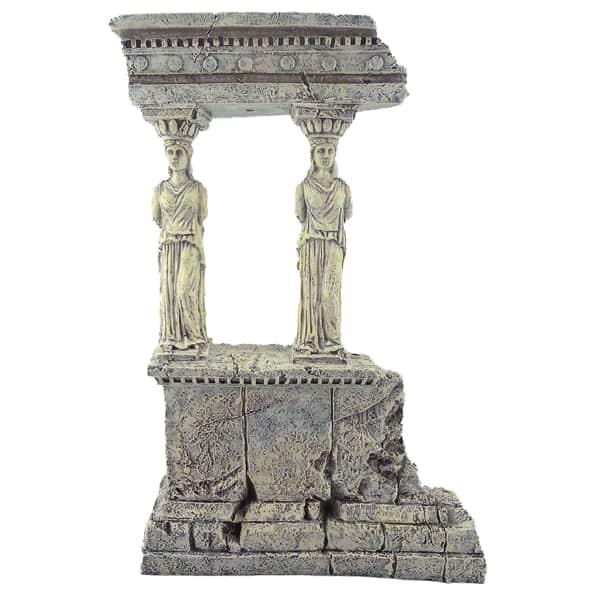 tempelsaeulen dekoration aquairum kunstharz