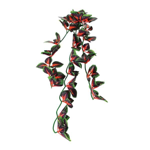 terrarium haengende kunstpflanze gruen rot