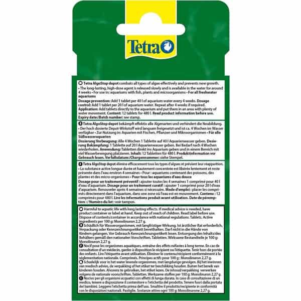 tetra algoStop gegen neubildung algen