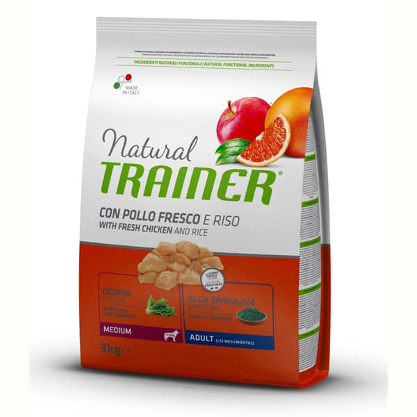 trainer natural hundefutter getreidefreies adult medium 582566