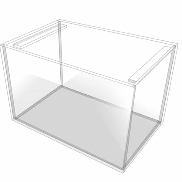 vollglas aquarium mit querstreben kaufen