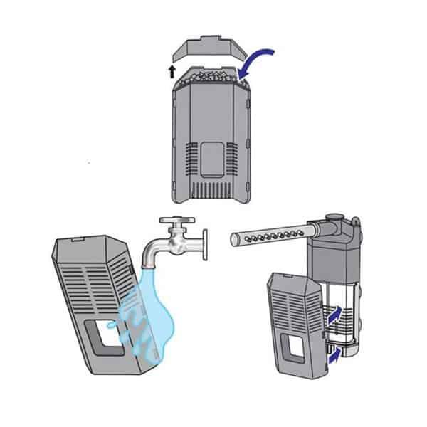 zusatzfilter dennerle nano filter extension